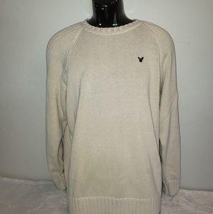 American Eagle Men's cream colored sweater